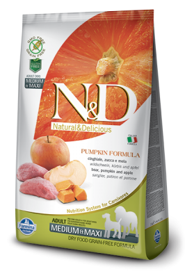 N&D Grain Free PUMPKIN Boar&Apple Adult Medium&Maxi 12kg