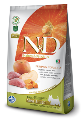 N&D Grain Free PUMPKIN Boar&Apple Adult Mini 7kg