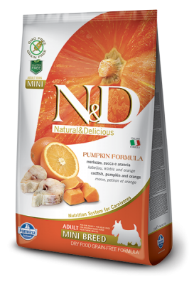 N&D Grain Free PUMPKIN Codefish&Orange Adult Mini 2,5kg