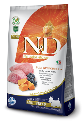 N&D Grain Free PUMPKIN Lamb&Blueberry Adult Mini 10 dag