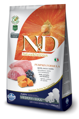 N&D Grain Free PUMPKIN Lamb&Blueberry Puppy Medium/Maxi 2,5kg