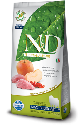N&D Grain Free Boar & Apple maxi ADULT DOG 12kg
