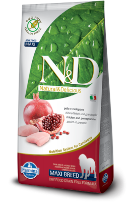 N&D Grain Free Chicken & Pomegranate maxi ADULT DOG 12kg