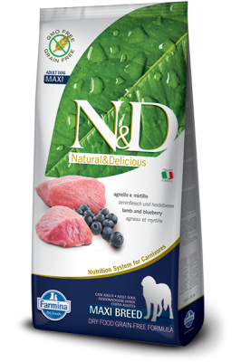 N&D Grain Free Lamb & Blueberry maxi ADULT DOG 12kg