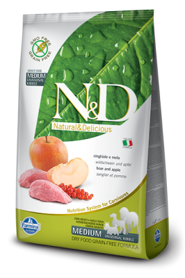 N&D Grain Free Boar & Apple medium&maxi ADULT DOG 12kg