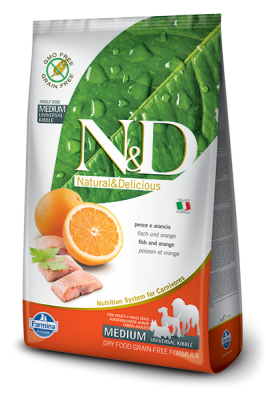 N&D Grain Free Fish & Orange ADULT DOG 2,5kg