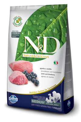 N&D Grain Free Lamb & Blueberry ADULT DOG 2,5kg