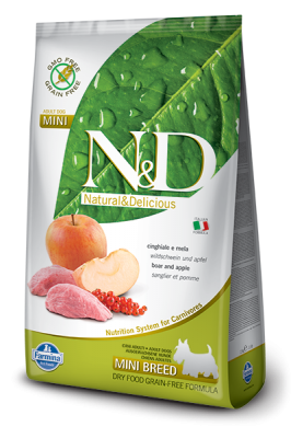 N&D Grain Free Boar & Apple mini ADULT DOG 2,5kg