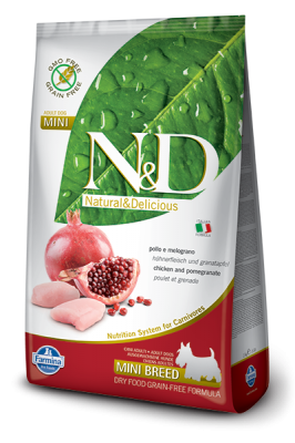 N&D Grain Free Chicken & Pomegranate mini ADULT DOG 2,5kg