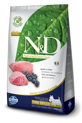 N&D Grain Free Lamb & Blueberry mini ADULT DOG 2,5kg