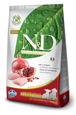 N&D Grain Free Chicken & Pomegranate mini & medium PUPPY 800g