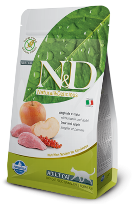 N&D Grain Free Cat Boar & Apple 5kg