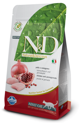 N&D Grain Free Cat Chicken & Pomegranate ADULT 1,5kg