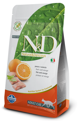 N&D Grain Free Cat Fish & Orange 1,5kg