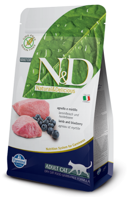 N&D Grain Free Cat Lamb & Blueberry 1,5kg