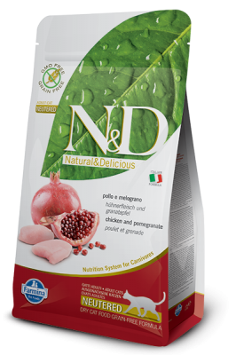 N&D Grain Free Cat Chicken & Pomegranate NEUTERED 5kg