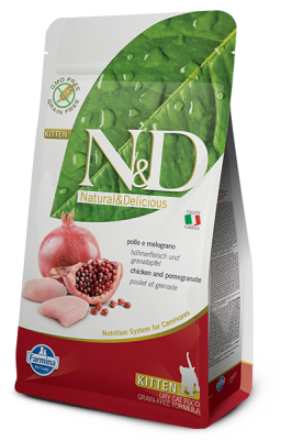 N&D Grain Free Cat Chicken & Pomegranate KITTEN 1,5kg