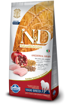 N&D Low Grain Chicken & Pomegranate maxi ADULT 12kg