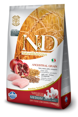 N&D Low Grain Chicken & Pomegranate medium ADULT 12kg