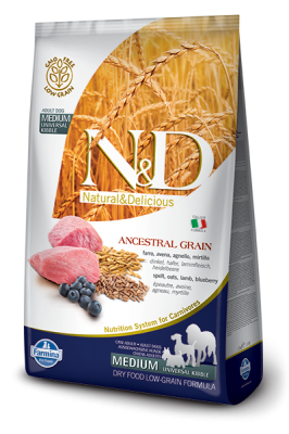 N&D Low Grain Lamb & Blueberry medium ADULT 12kg