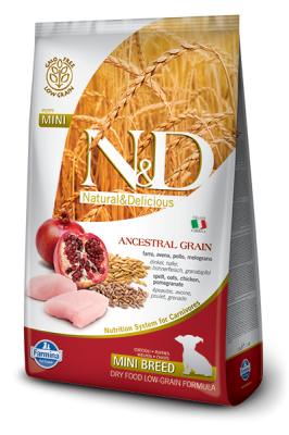 N&D Low Grain Chicken & Pomegranate mini PUPPY 800g
