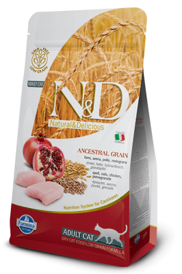 N&D Low Grain Cat Chicken & Pomegranate ADULT 1,5kg