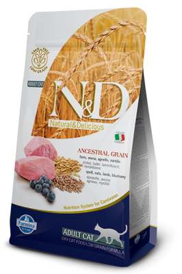 N&D Low Grain Cat Lamb & Blueberry ADULT 5kg