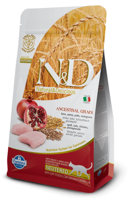 N&D Low Grain Cat Chicken & Pomegranate Neutered 300g