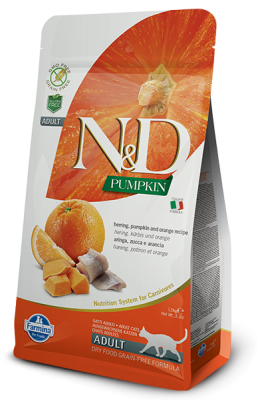 N&D Cat PUMPKIN Herring & Orange 1,5kg