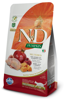 N&D Cat PUMPKIN Neutered Quail & Pomegranate 300g