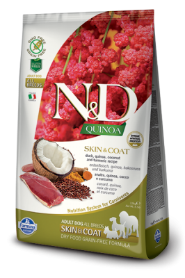 N&D Dog QUINOA SKIN & COAT Duck 800g