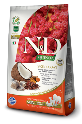 N&D Dog QUINOA SKIN & COAT Herring 800g