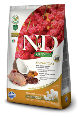 N&D Dog QUINOA SKIN & COAT Quail 7kg