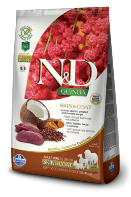 N&D Dog QUINOA SKIN & COAT Venison 2,5kg