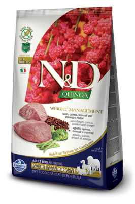 N&D Dog QUINOA WEIGHT MANAGEMENT Lamb & Broccoli 800g