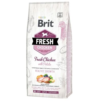 Brit Fresh CHICKEN with potato PUPPY HEALTHY GROWTH 12kg