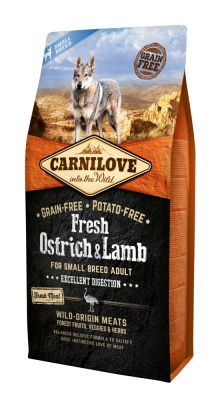 Carnilove Dog Adult Small Fresh Ostrich & Lamb 6kg