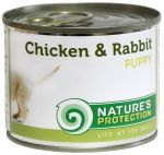 Nature\'s Protection Puppy kurczak i królik 6x200 g